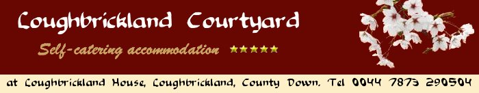 Logo Self-Catering Five Star and Four Star Accommodation in County Down: Loughbrickland Courtyard