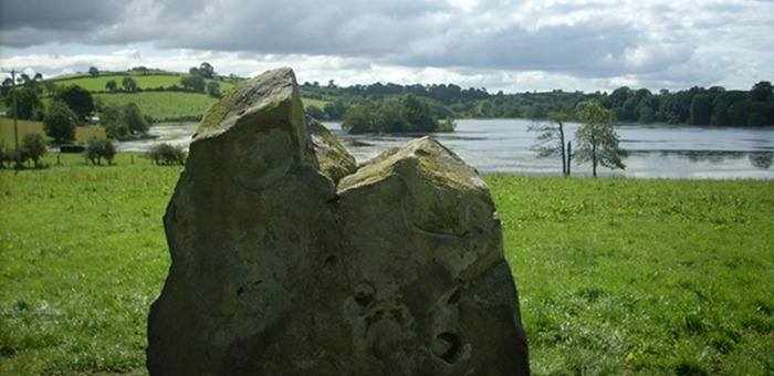 Standing stone at Loughbrickland Lake